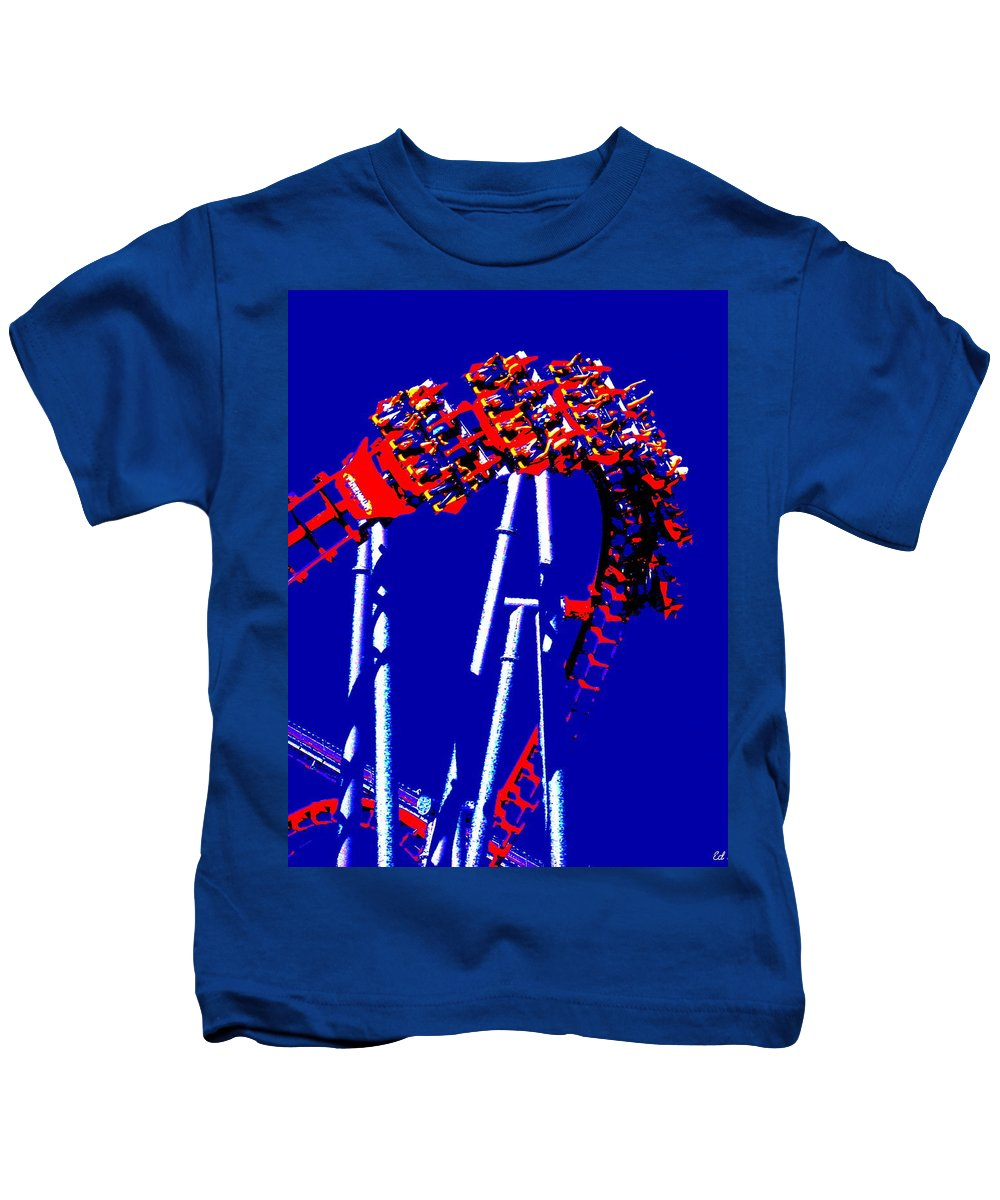 Down Side Up Kids T-Shirt featuring the photograph Down Side Up by Ed Smith