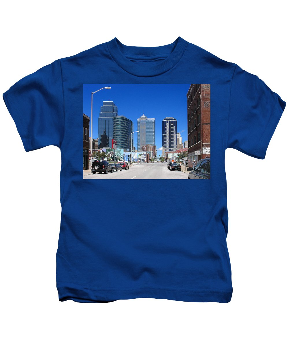 City Kids T-Shirt featuring the photograph Downtown Kansas City by Steve Karol