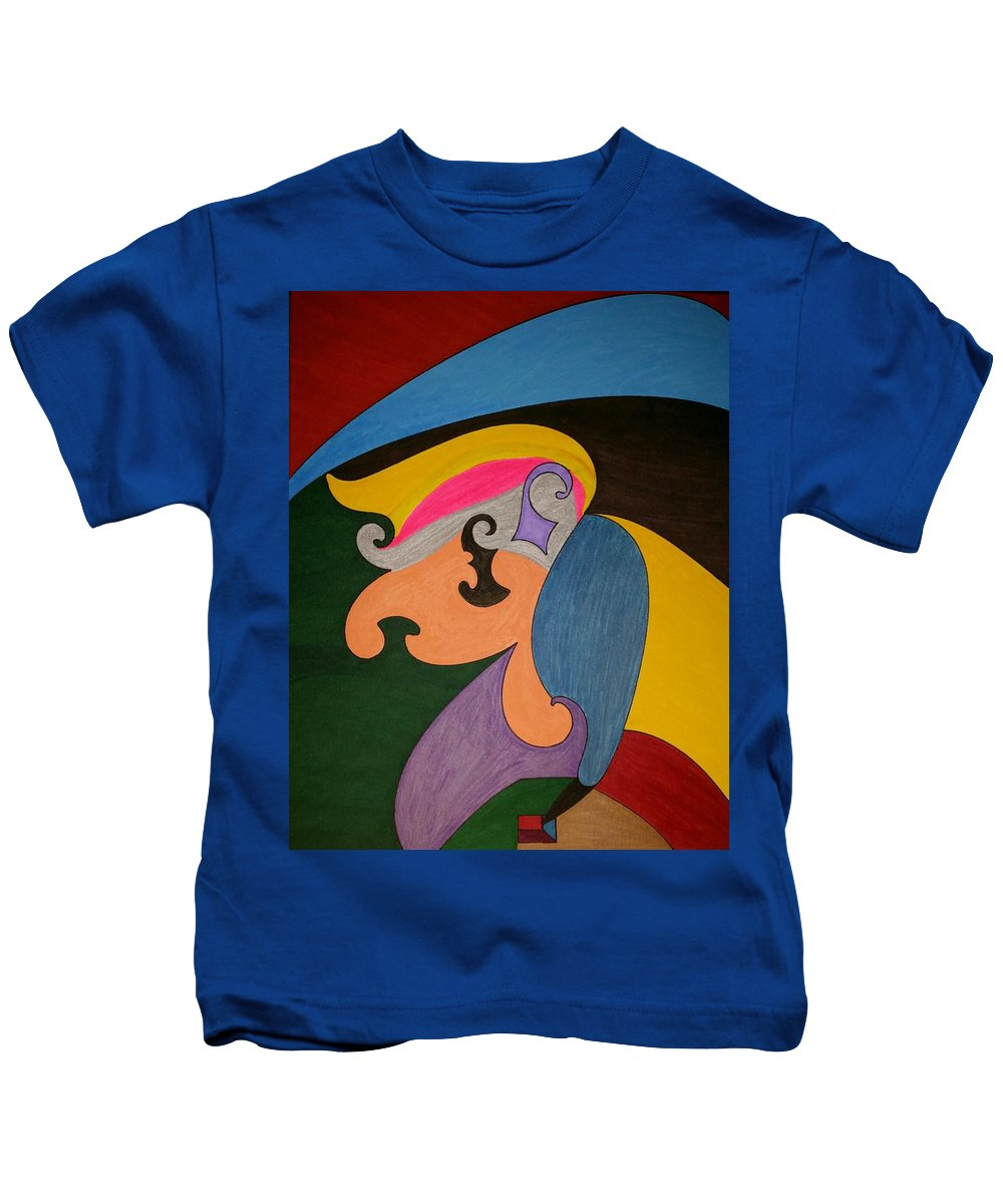Geo - Organic Art Kids T-Shirt featuring the painting Dream 319 by S S-ray