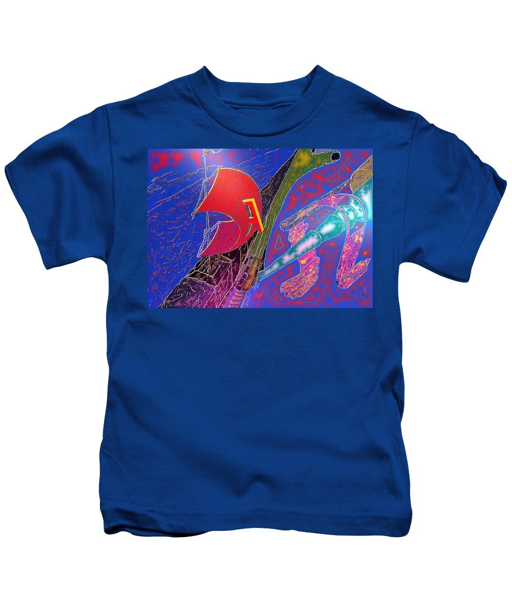 Drugs Kids T-Shirt featuring the digital art Drugs by Helmut Rottler