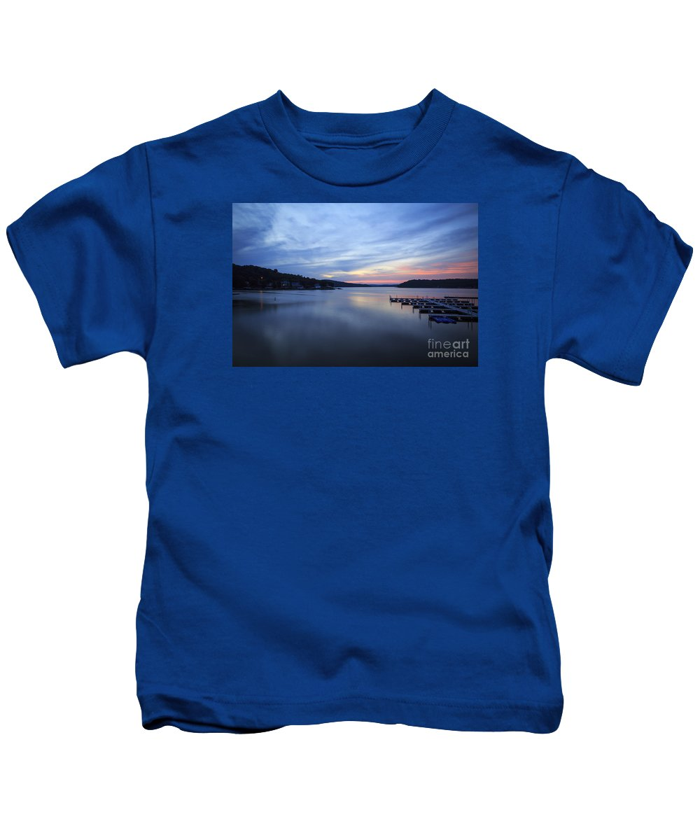 Lake Kids T-Shirt featuring the photograph Early Morning At Lake Of The Ozarks by Dennis Hedberg