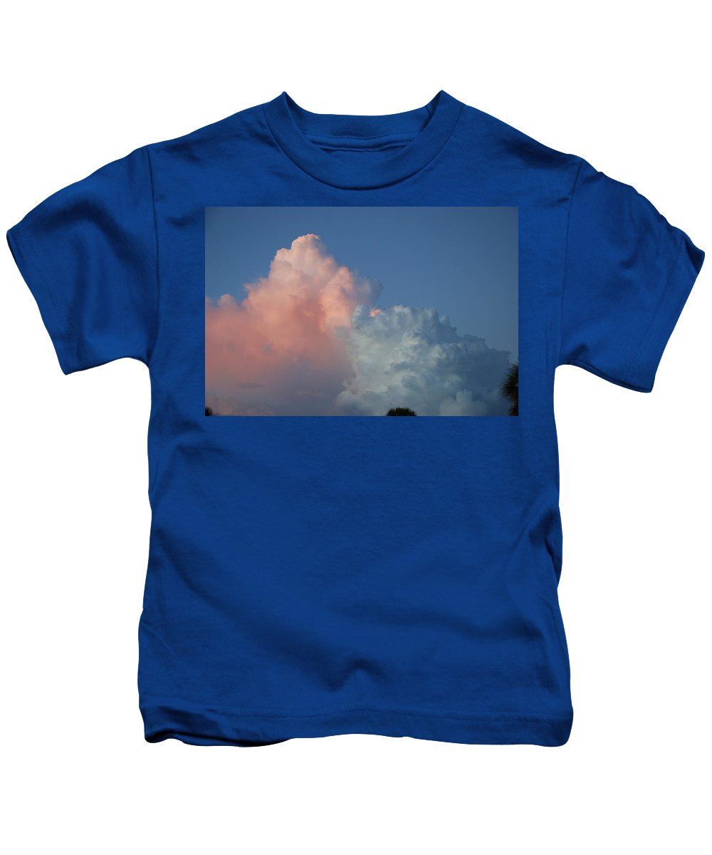 Clouds Kids T-Shirt featuring the photograph Elephants Clouds by Rob Hans