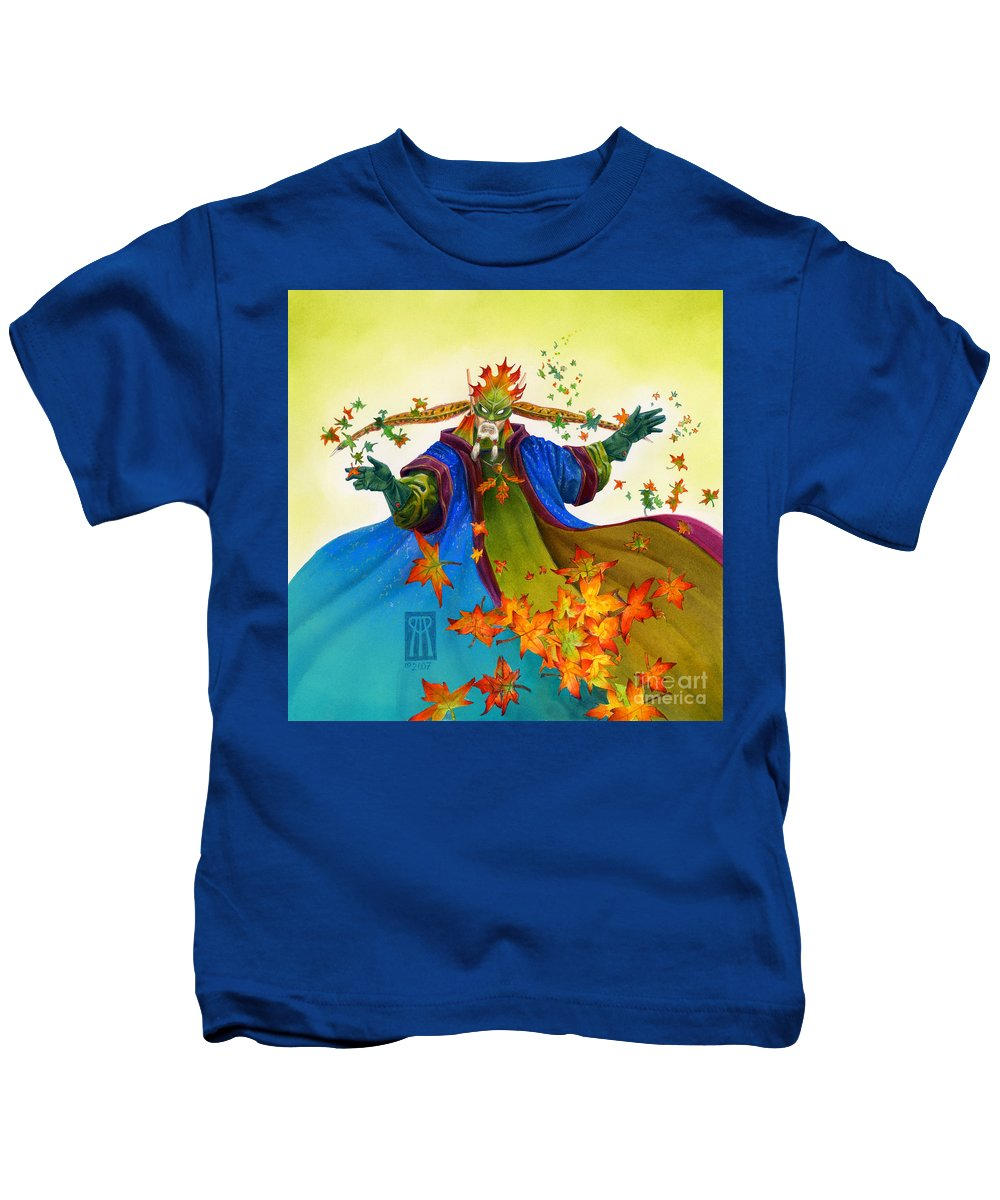 Elf Kids T-Shirt featuring the painting Elven Mage by Melissa A Benson