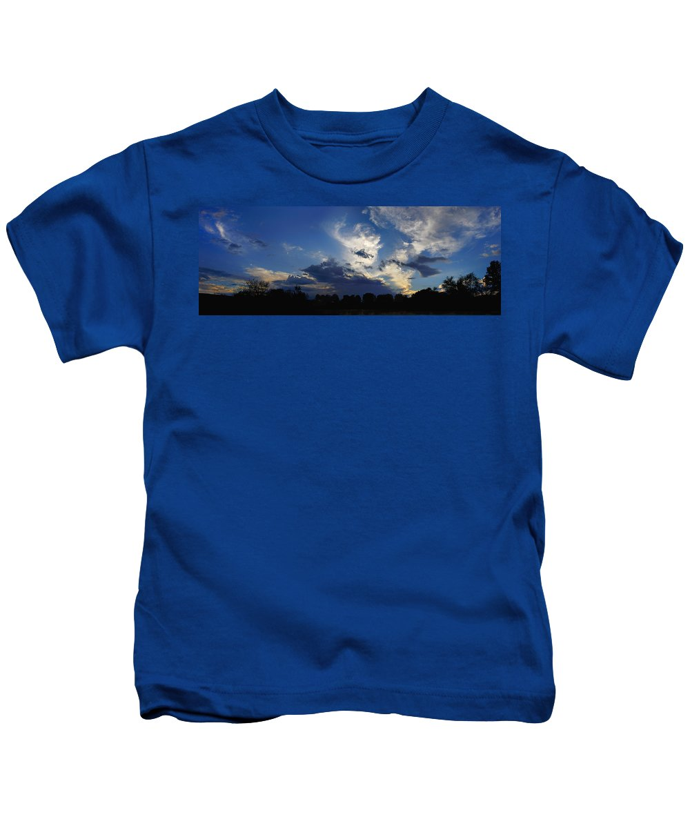 Landscape Kids T-Shirt featuring the photograph Evening At The Nature Center by Steve Karol