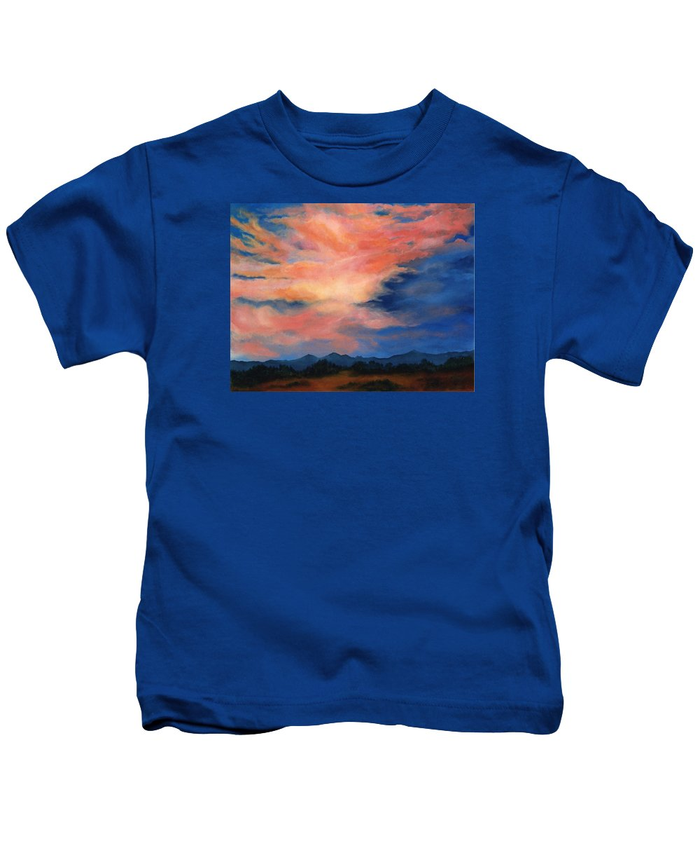 Twilight Kids T-Shirt featuring the painting Evening Sky by Melissa Joyfully
