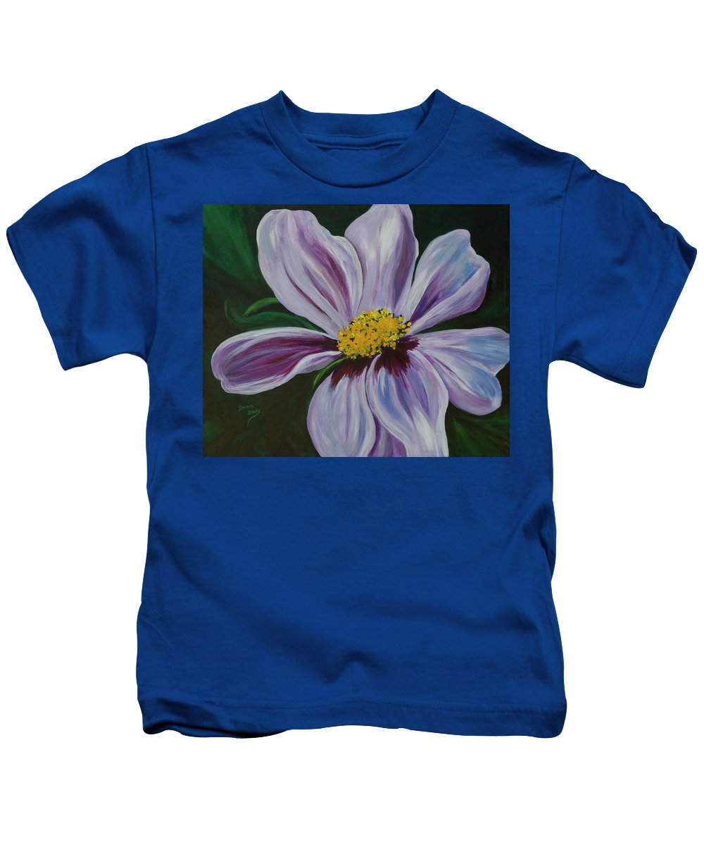 Floral Kids T-Shirt featuring the painting Exquisite by Donna Drake