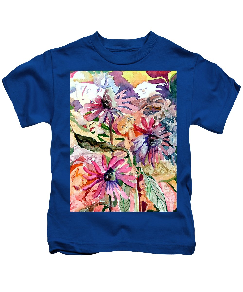 Daisy Kids T-Shirt featuring the painting Fairy Land by Mindy Newman