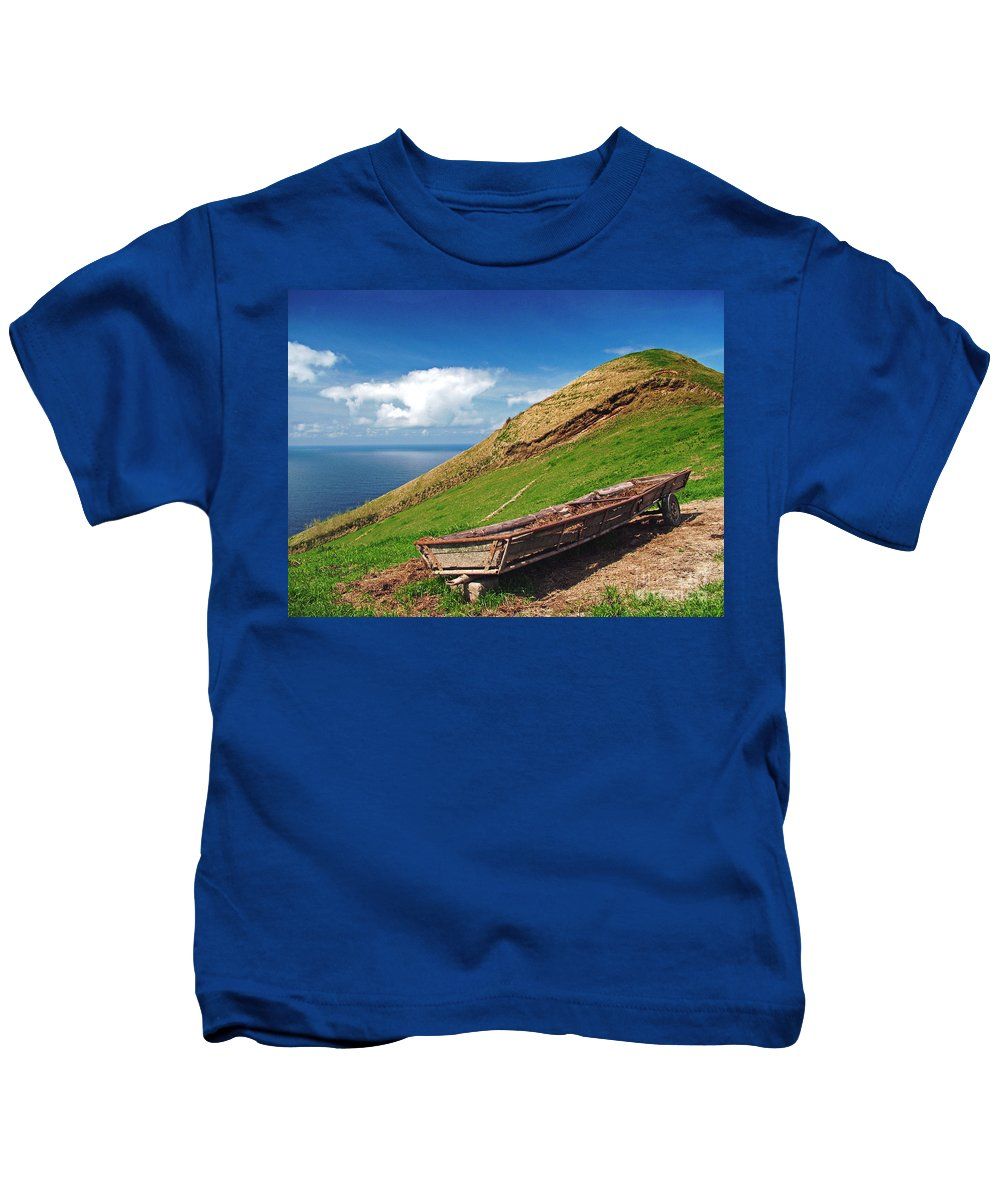 Europe Kids T-Shirt featuring the photograph Farming In Azores Islands by Gaspar Avila