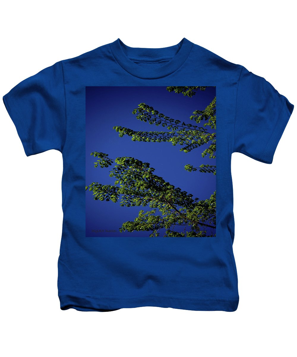 Tree Kids T-Shirt featuring the digital art First Signs Of Spring Iv by DigiArt Diaries by Vicky B Fuller