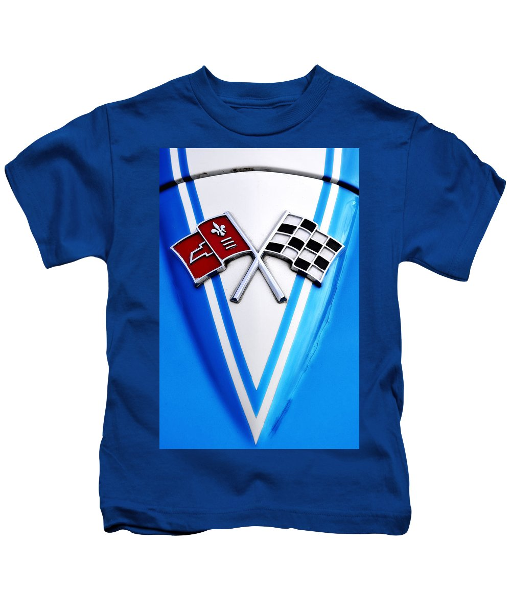 Corvette Kids T-Shirt featuring the photograph Flags Of Our Fathers by Bill Cannon