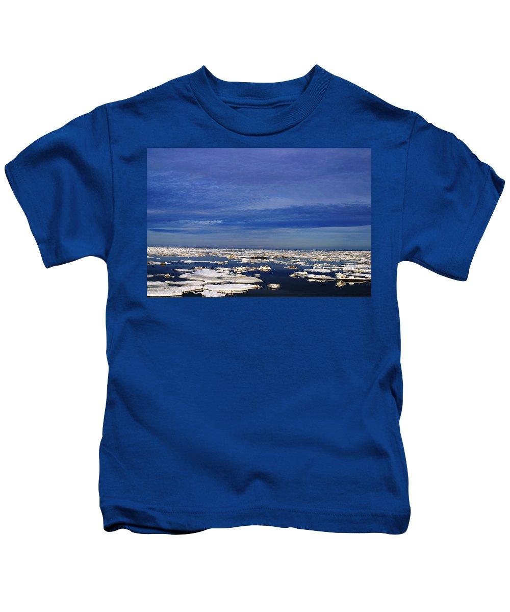 Alaska Kids T-Shirt featuring the digital art Floating Ice by Anthony Jones
