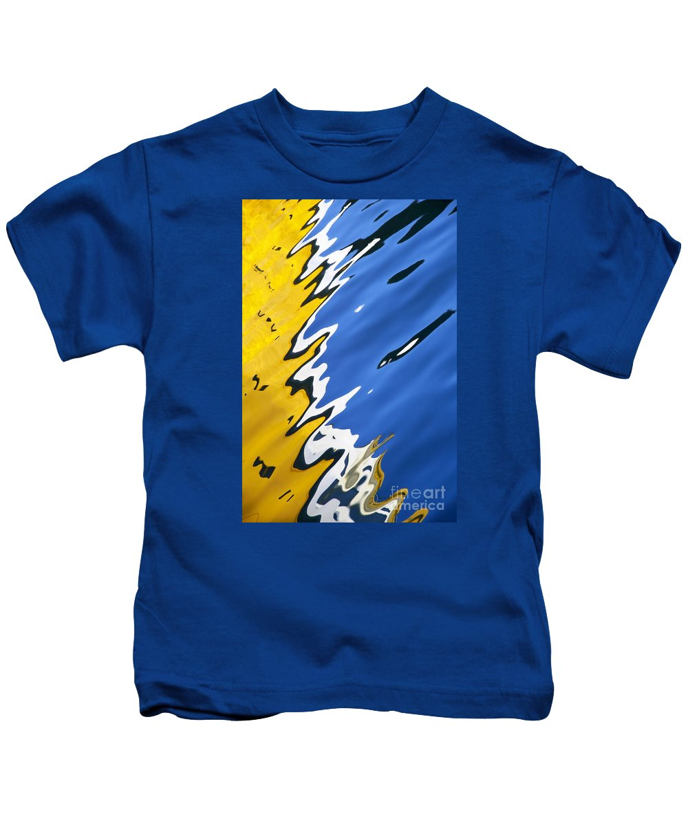 Wendy Kids T-Shirt featuring the photograph Floating On Blue 33 by Wendy Wilton