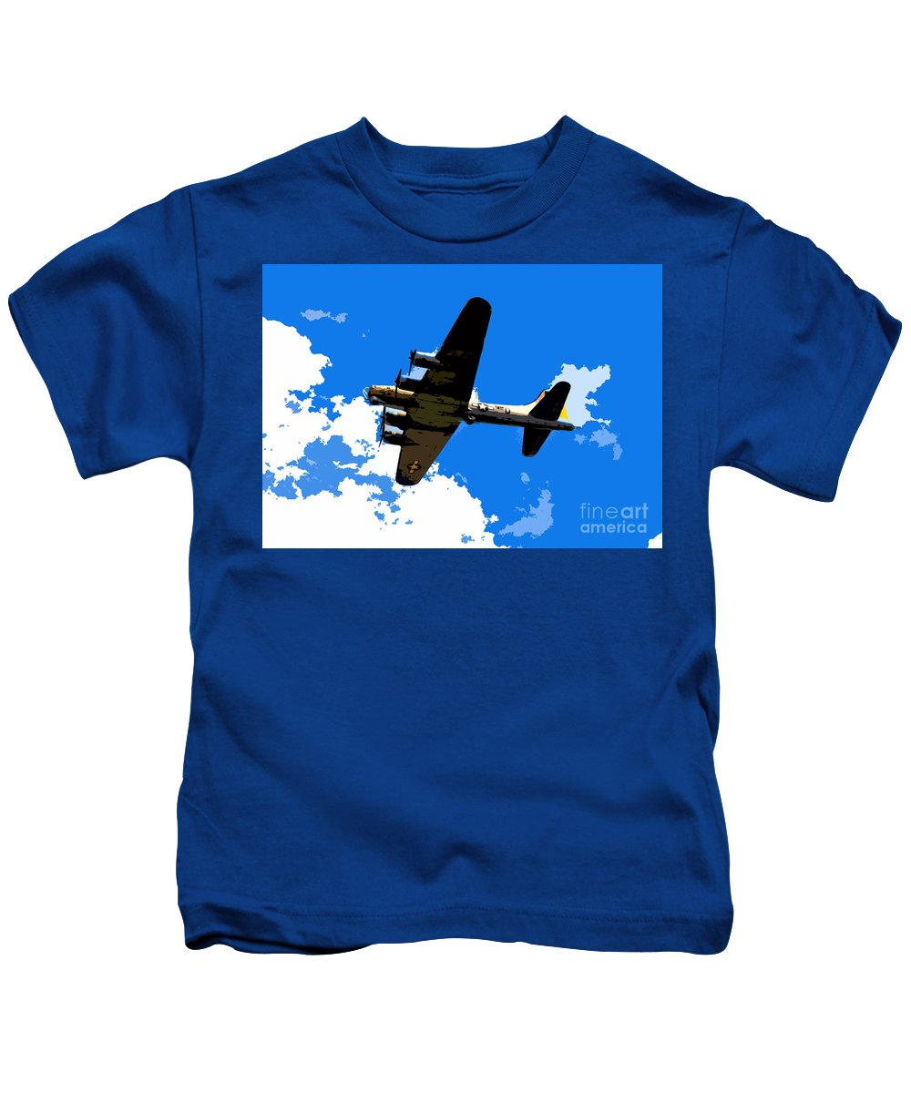 Flying Fortress Kids T-Shirt featuring the photograph Flying Fortress by David Lee Thompson