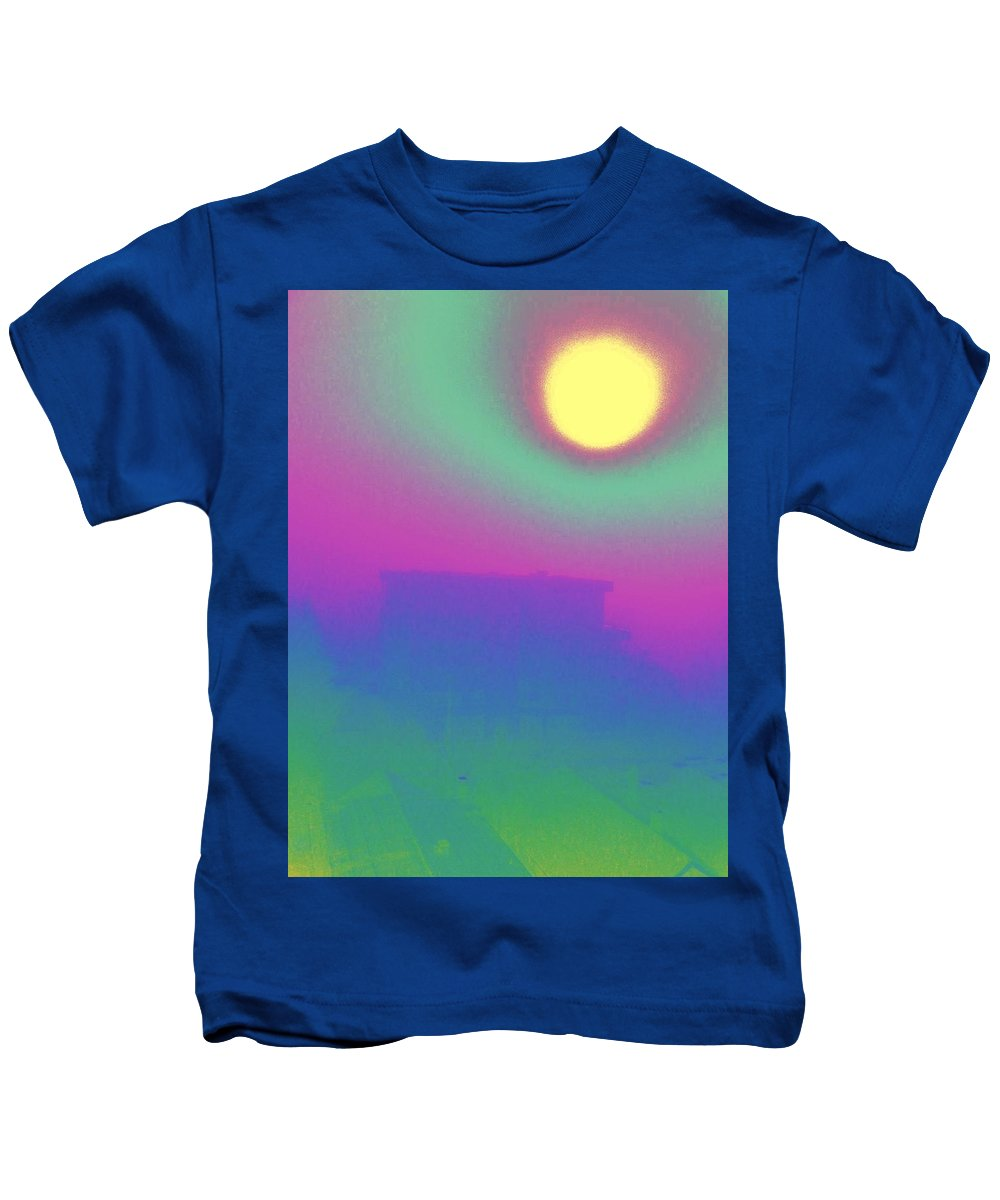 Abstract Kids T-Shirt featuring the digital art Foggy Day by Tim Allen