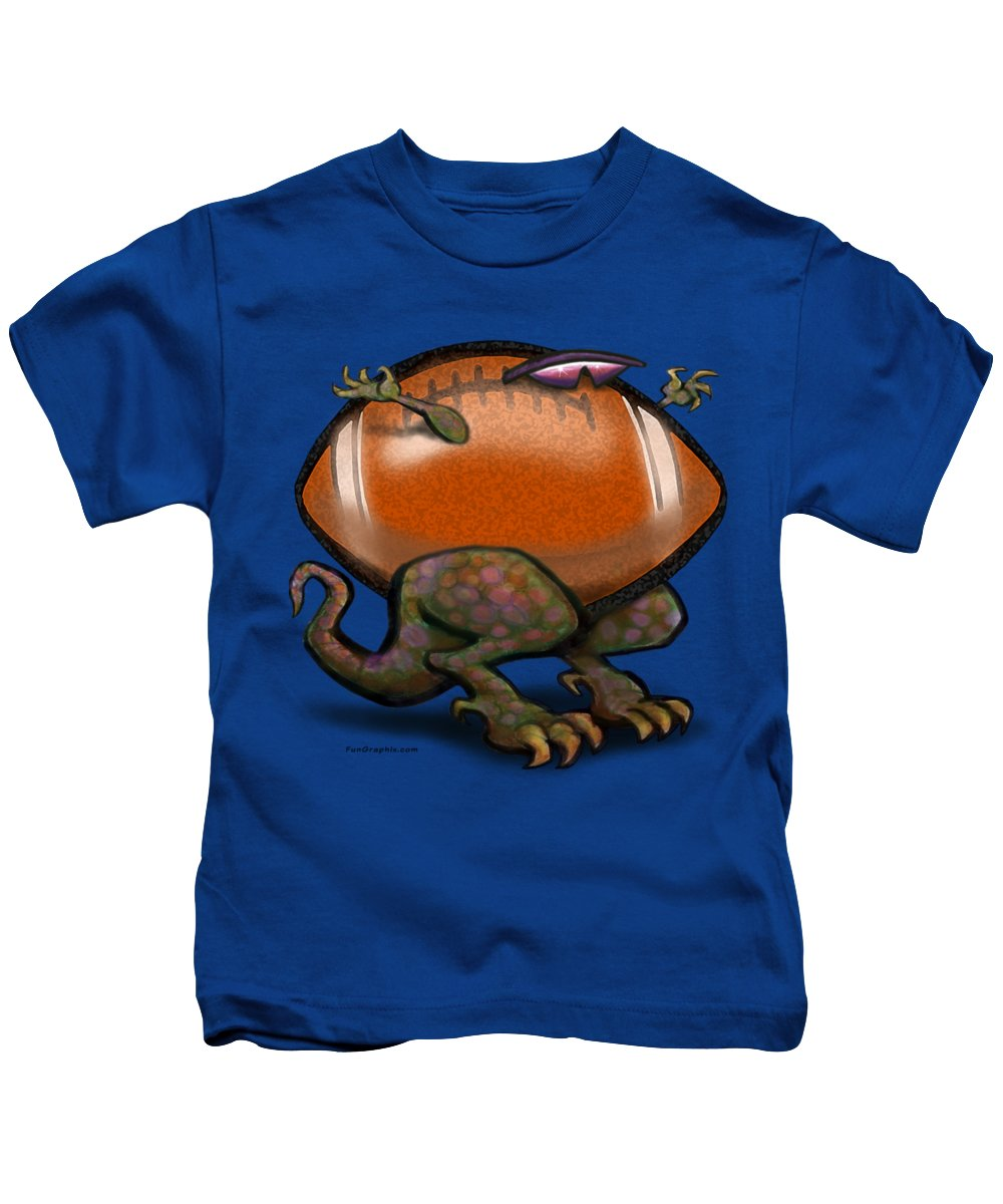 Football Kids T-Shirt featuring the digital art Football Beast by Kevin Middleton