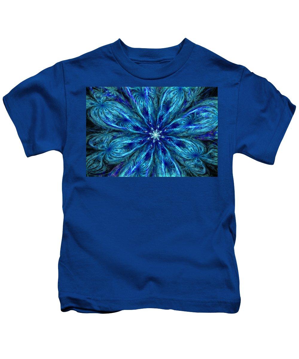 Abstract Kids T-Shirt featuring the digital art Fractal Flora 062610 by David Lane