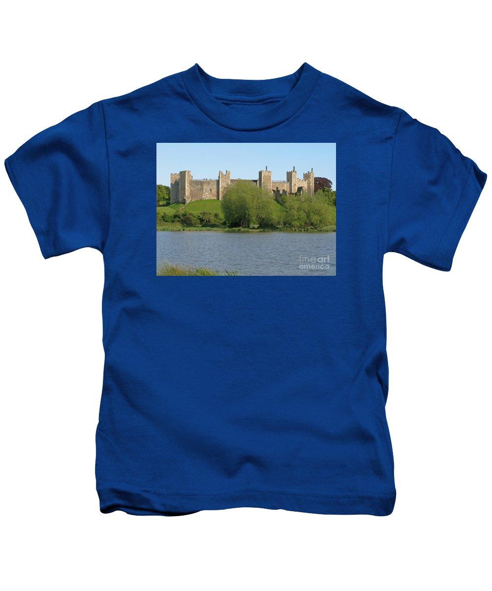 England Kids T-Shirt featuring the photograph Framlingham Castle by Ann Horn