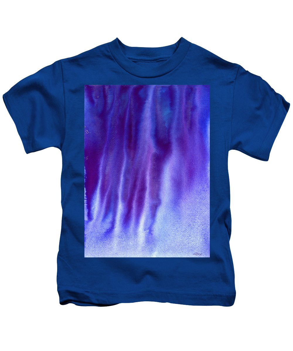 Frost Kids T-Shirt featuring the painting Frosty Evening by Hakon Soreide