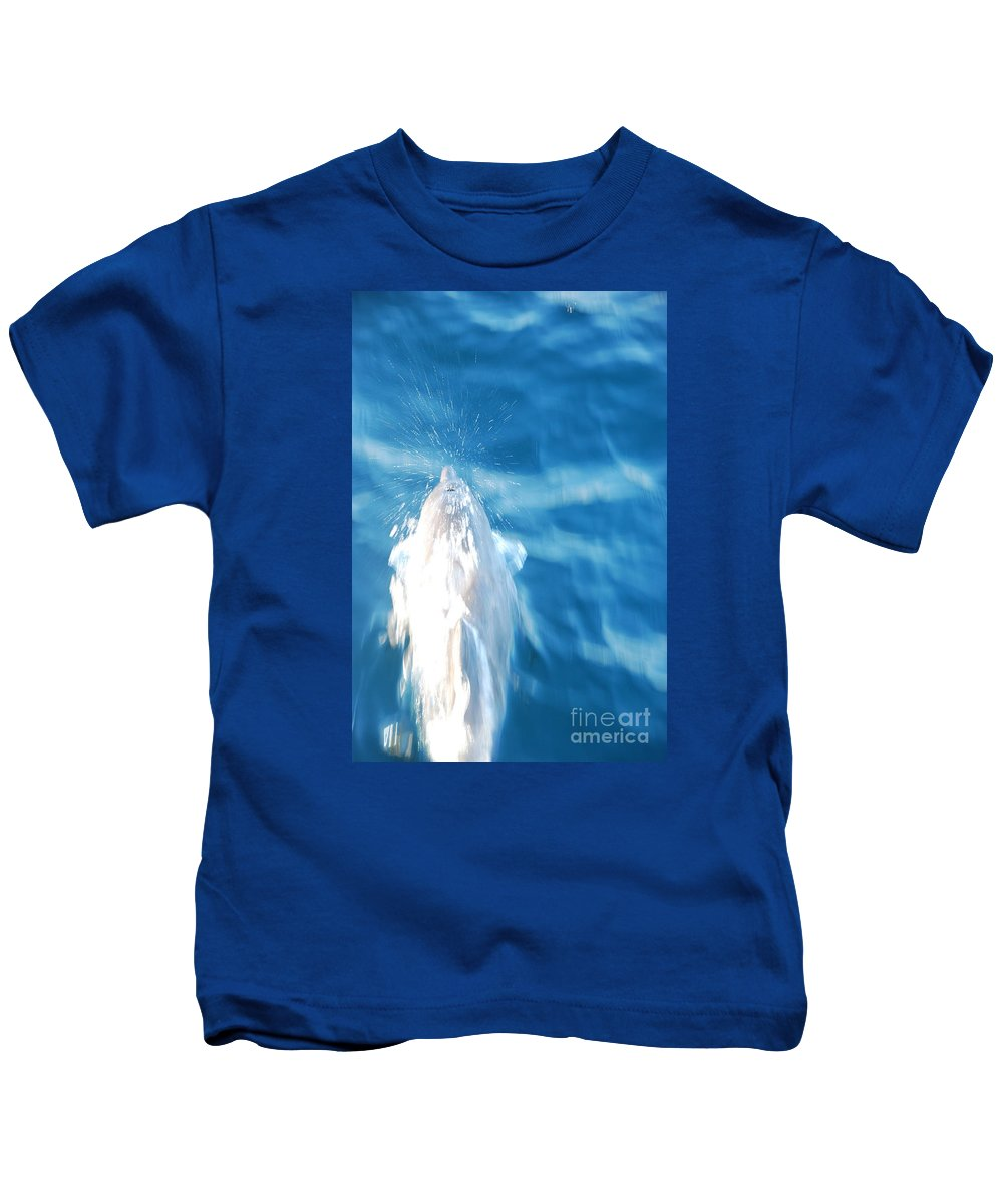 Motion Kids T-Shirt featuring the photograph Frozen Breathe by Chad Natti