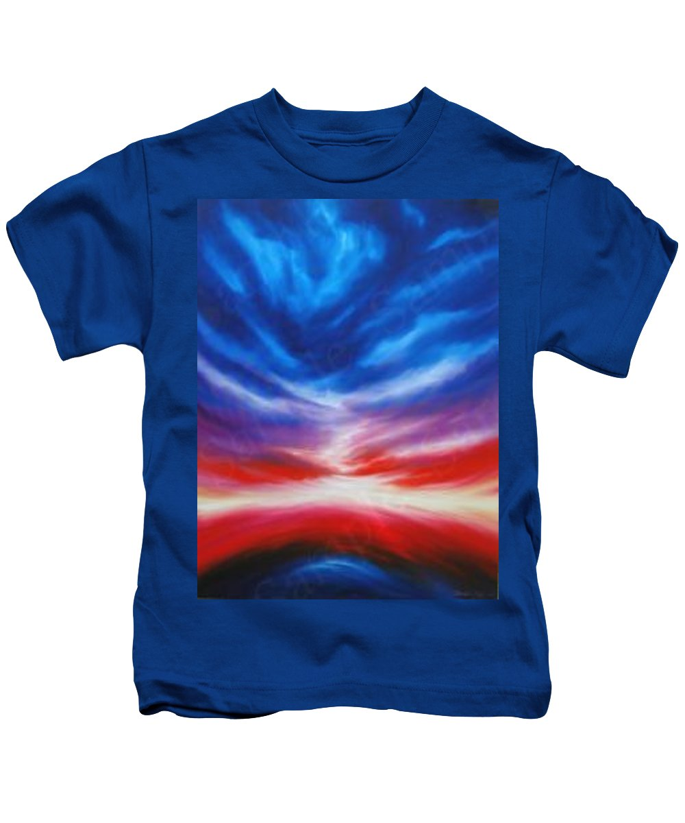 Tempest Kids T-Shirt featuring the painting Genesis III by James Christopher Hill