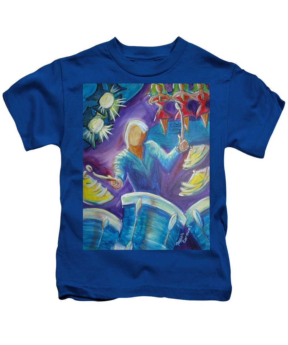 Jazz Kids T-Shirt featuring the painting Give Me A Beat by Regina Walsh