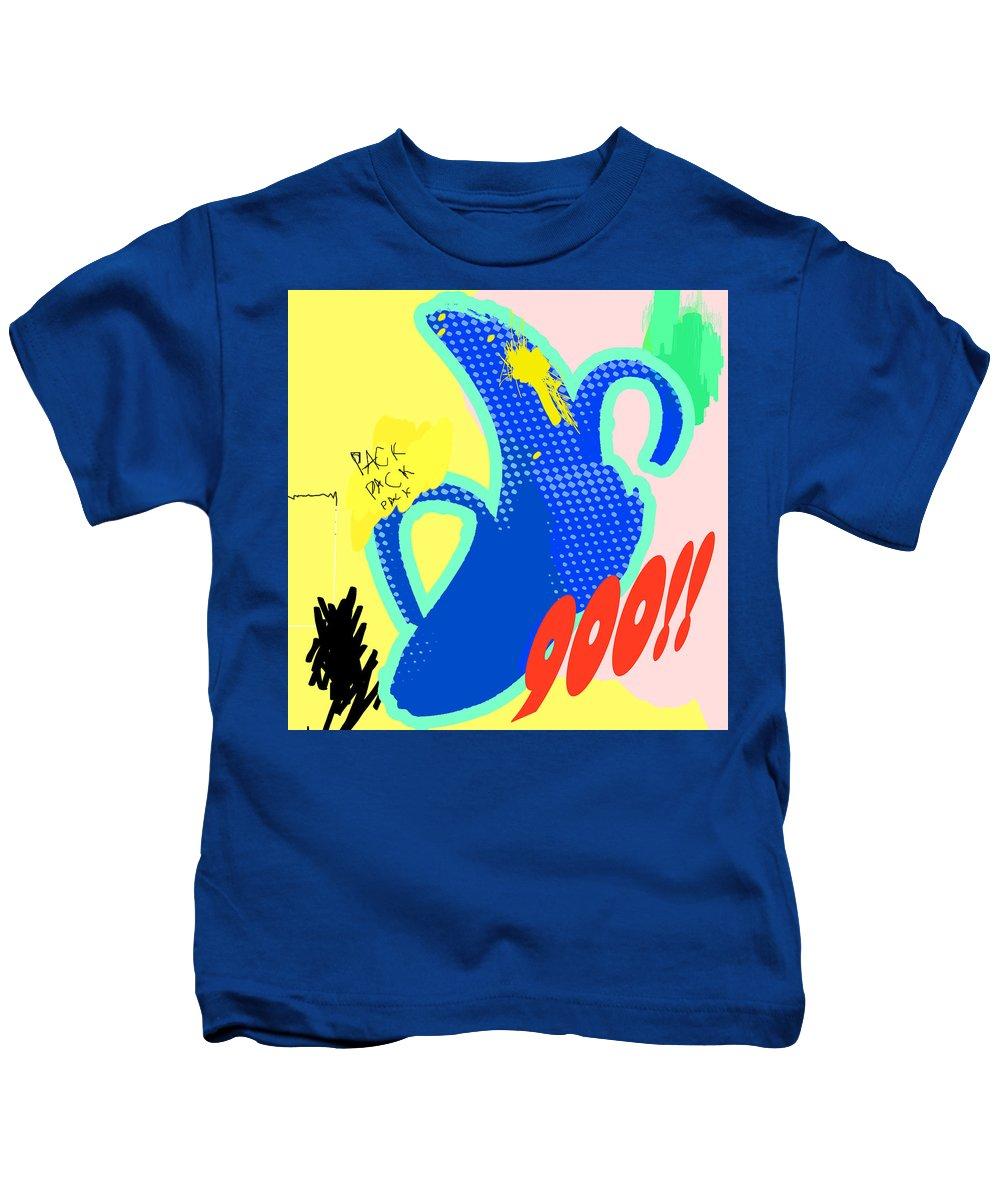 Bananas Kids T-Shirt featuring the digital art Glass House by Cohen Bailey