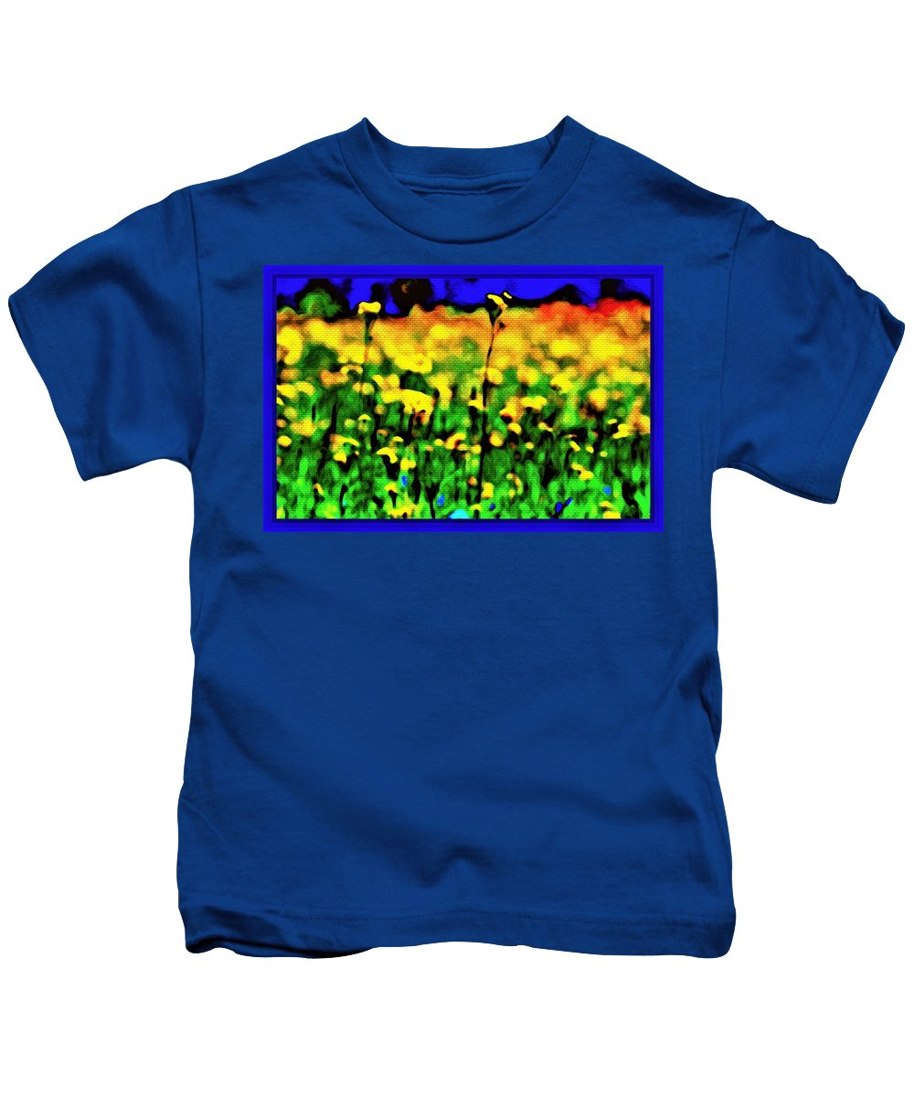 Photography Kids T-Shirt featuring the mixed media Glory Road by Debra Lynch