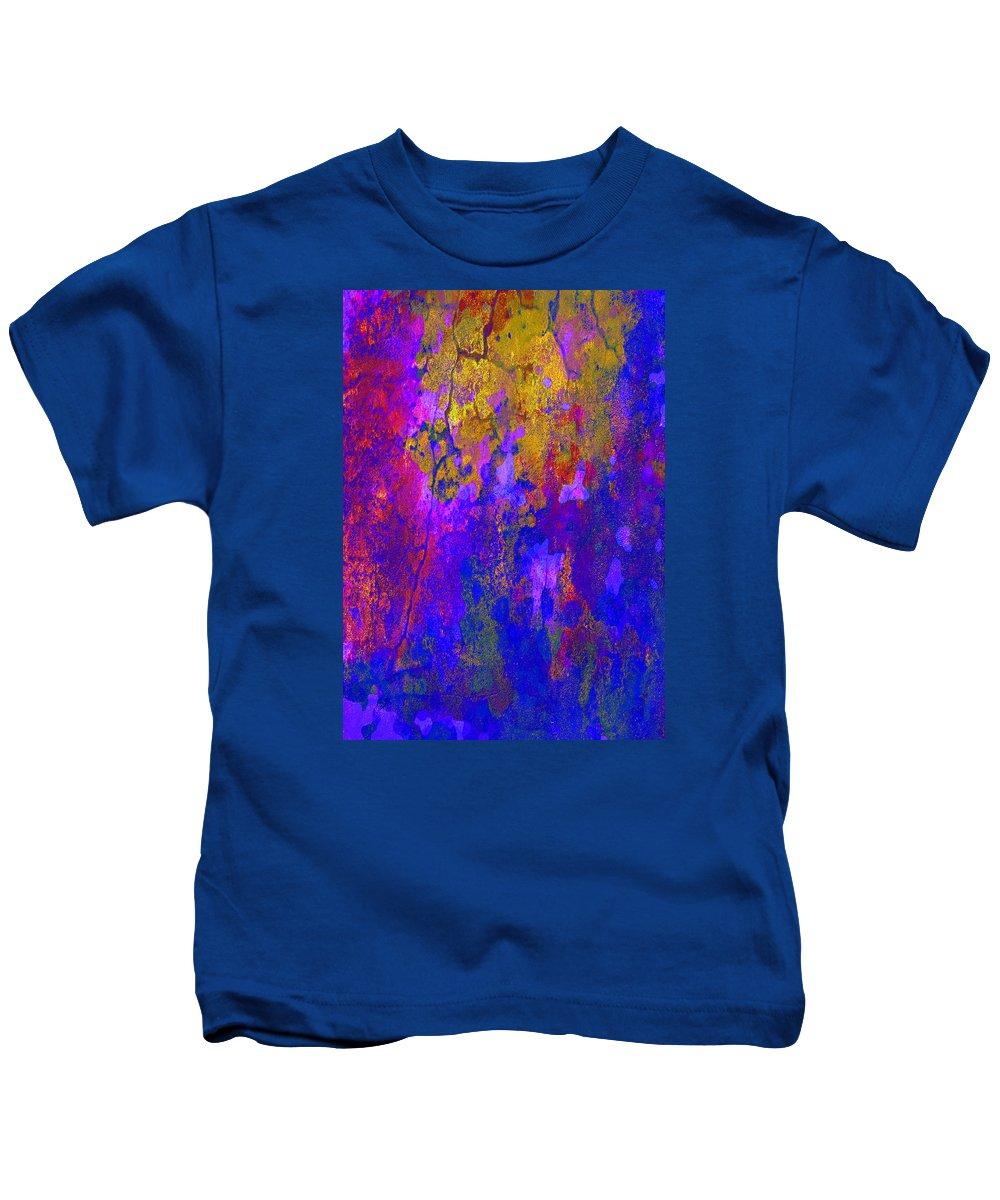 Abstract Art Kids T-Shirt featuring the digital art Golden Shine by Mirimo