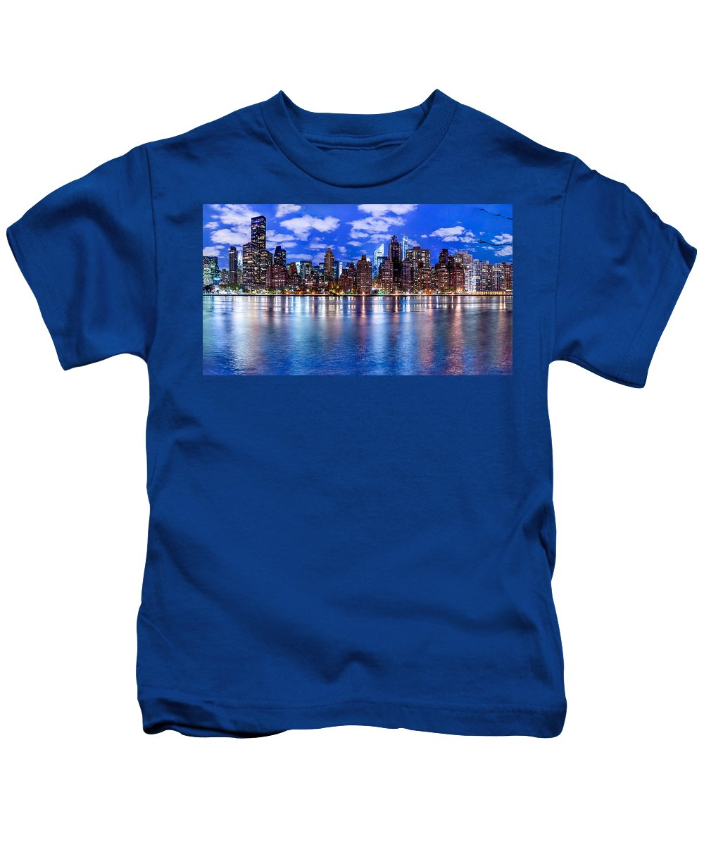 New York City Kids T-Shirt featuring the photograph Gothem by Az Jackson