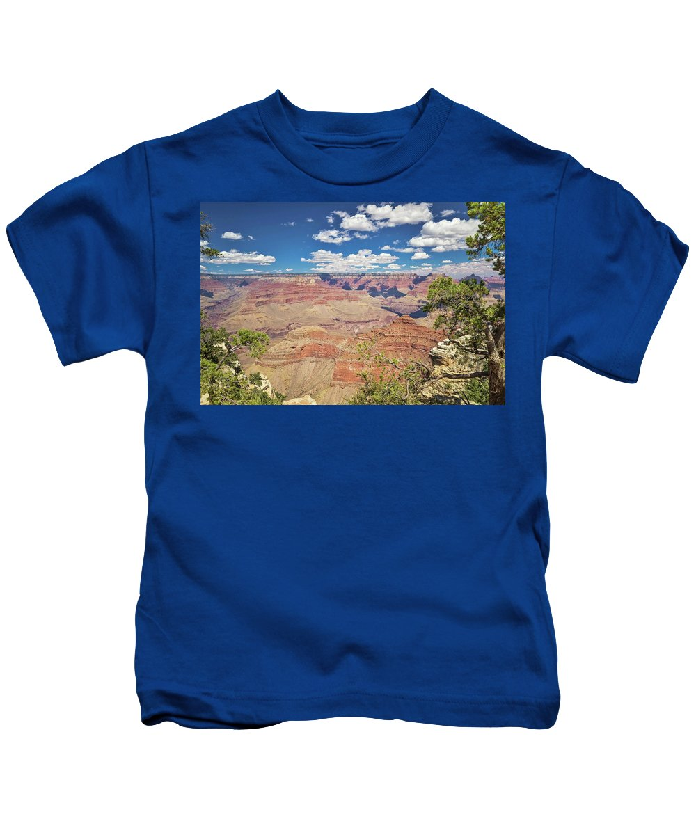 Grand Canyon Kids T-Shirt featuring the photograph Grand Canyon Vista 14 by Marisa Geraghty Photography