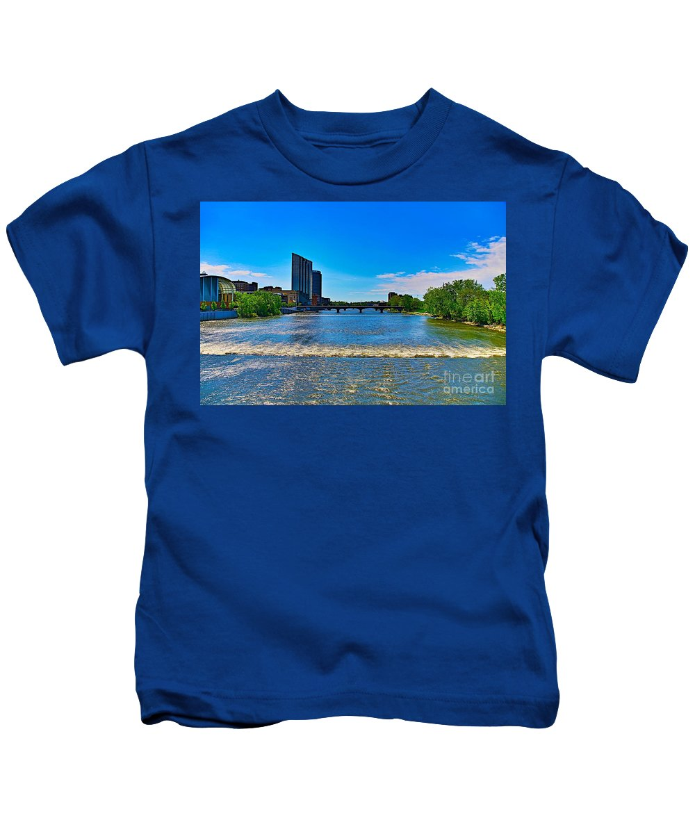 Tags:  West Michigan Photographs Kids T-Shirt featuring the photograph Grand Rapids Mi- 8 by Robert Pearson