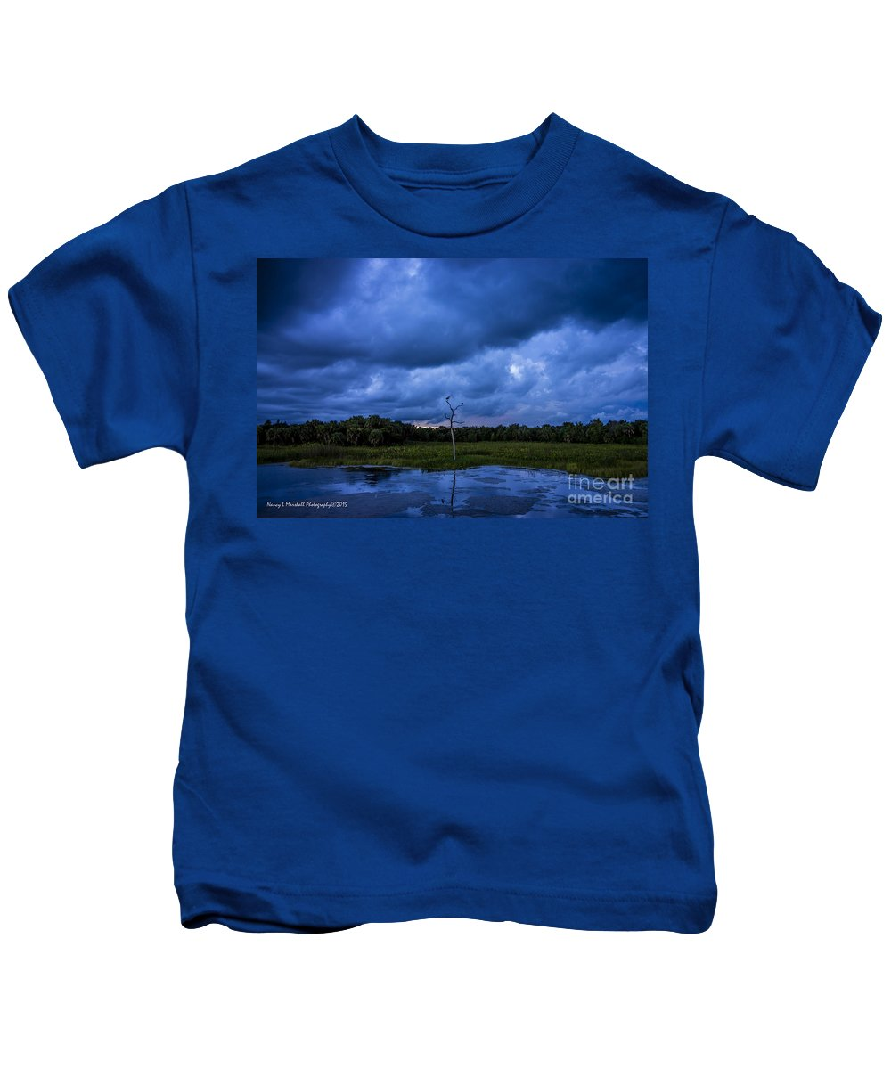 Boynton Beach Kids T-Shirt featuring the photograph Grean Cay Storm 4 by Nancy L Marshall