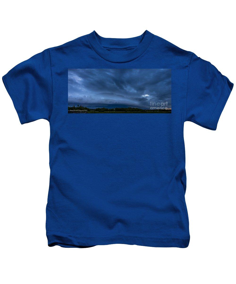 Boynton Beach Kids T-Shirt featuring the photograph Green Cay Storm 2 by Nancy L Marshall