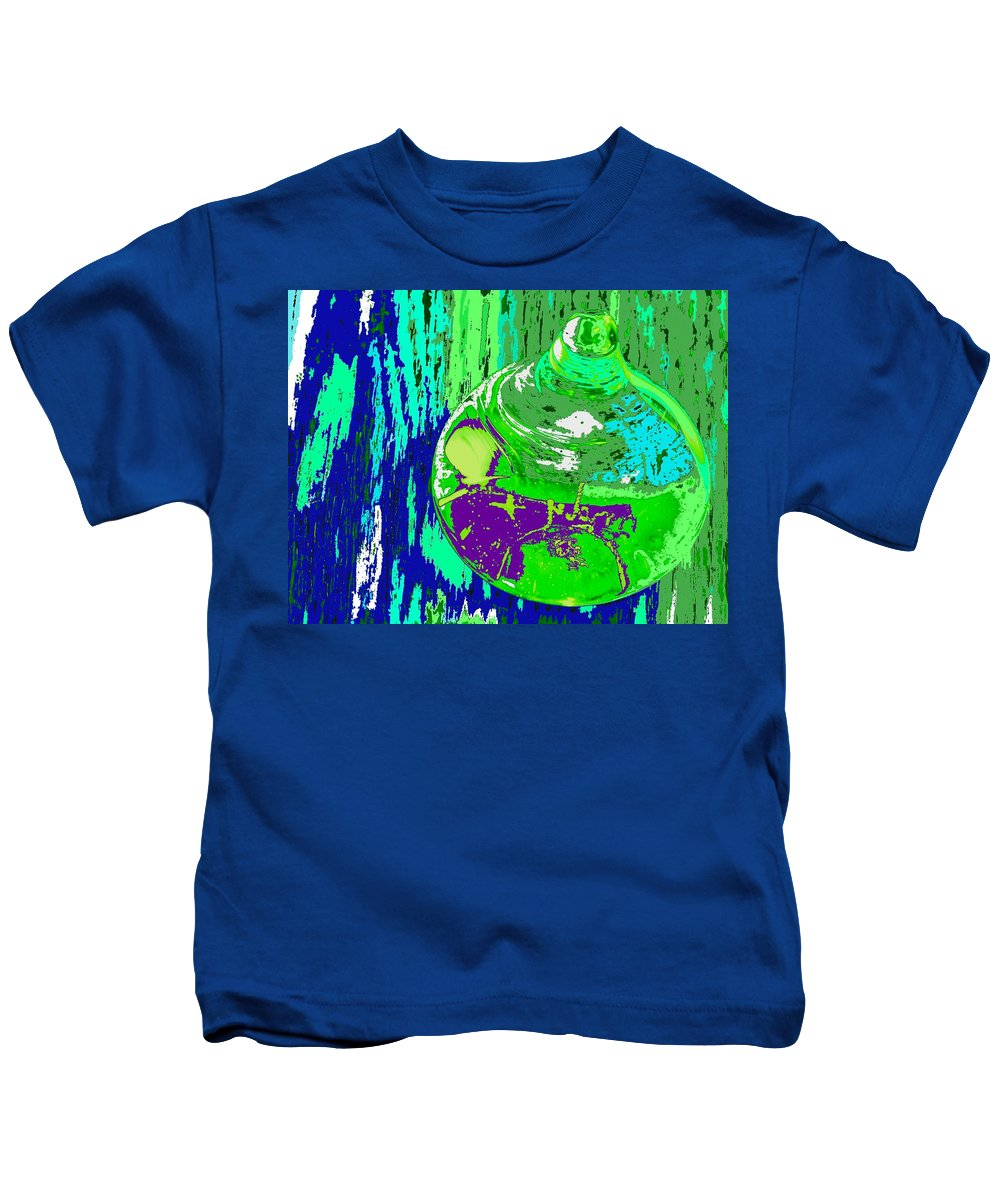 Abstract Kids T-Shirt featuring the photograph Green Whirl by Ian MacDonald