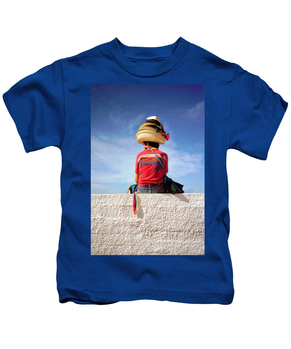 Art Kids T-Shirt featuring the photograph Hats by Frank DiMarco