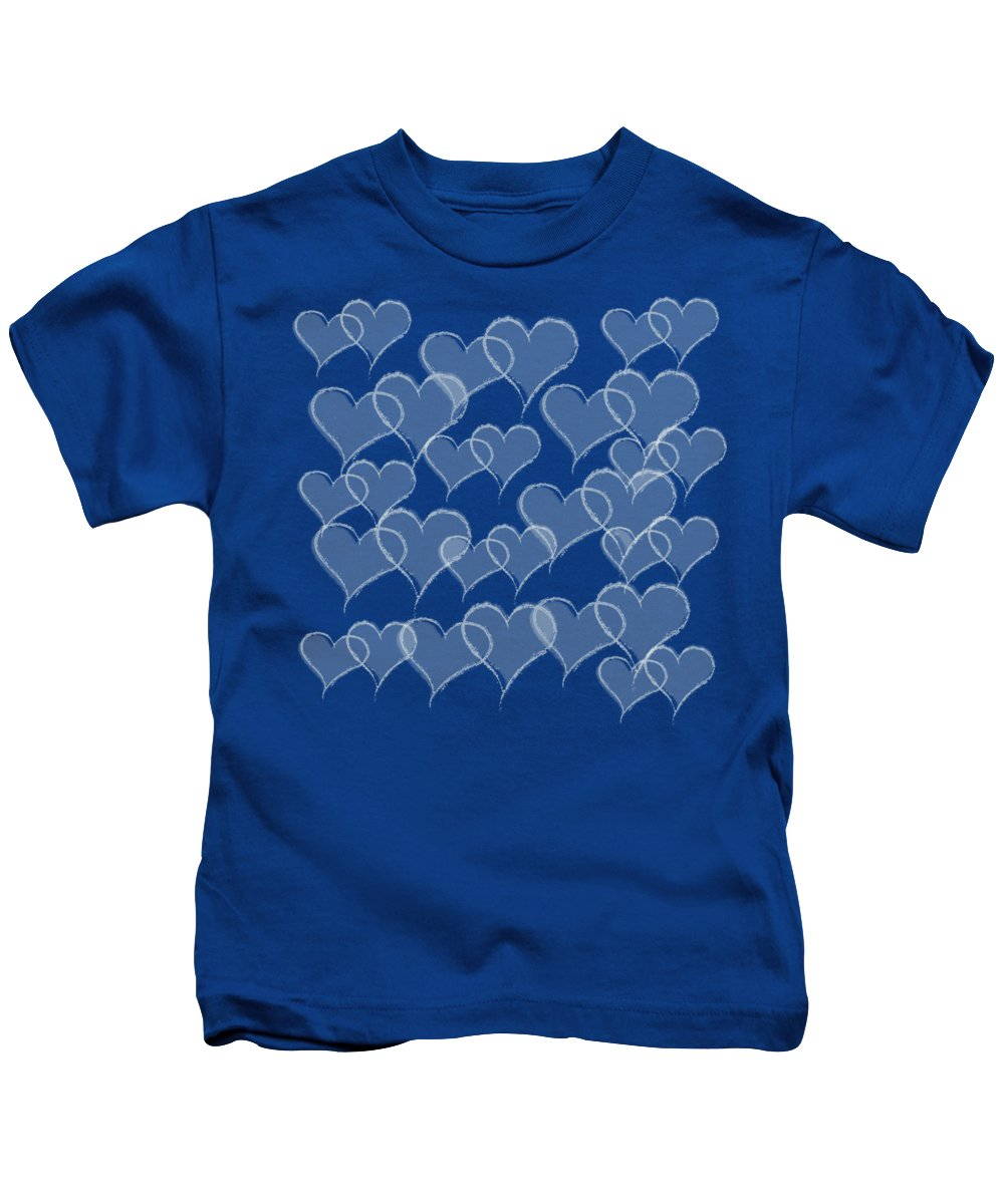 Hearts Kids T-Shirt featuring the digital art Hearts by Anne Kitzman