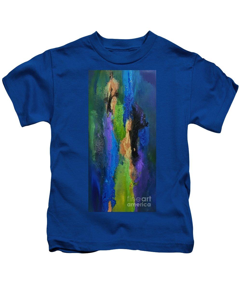 Kids T-Shirt featuring the painting Hera by Rosemary Hadeed