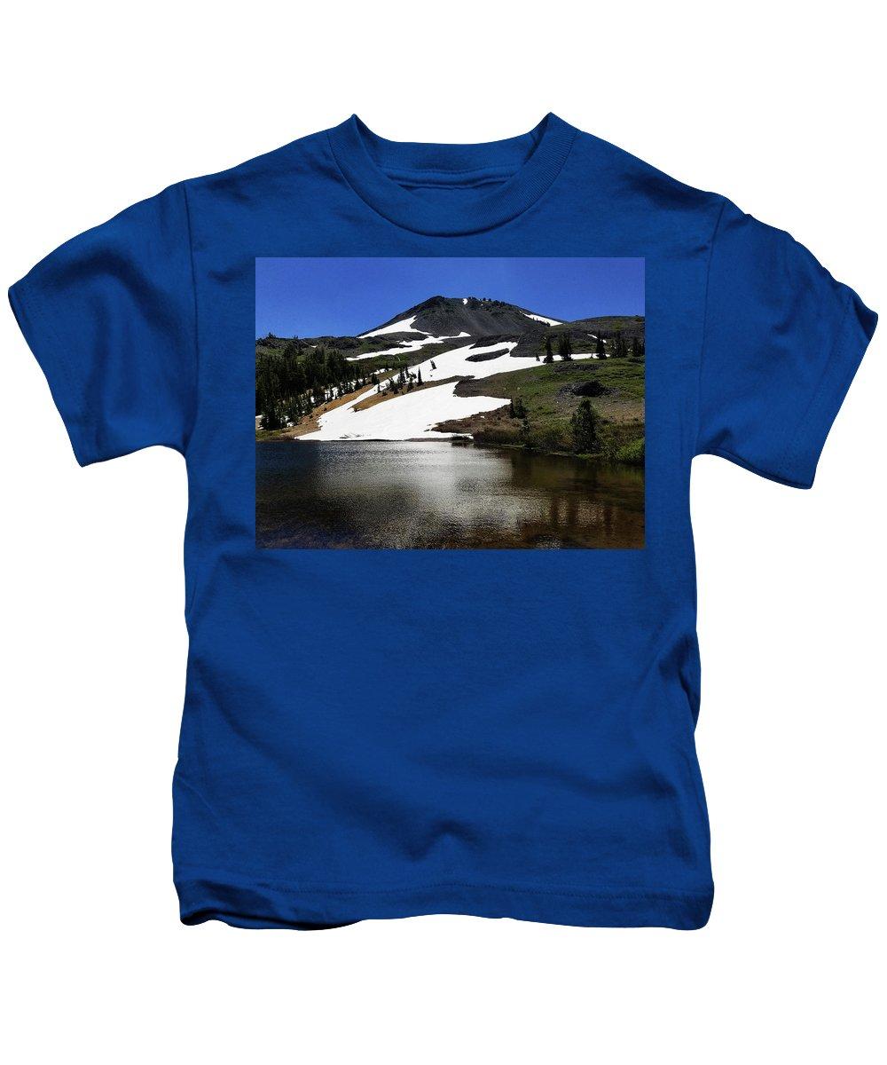 Hiram Peak Kids T-Shirt featuring the photograph Hiram Peak Glaciers by Aaron James