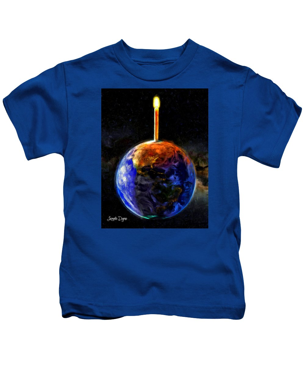 Hope Kids T-Shirt featuring the painting Hope For Home by Leonardo Digenio