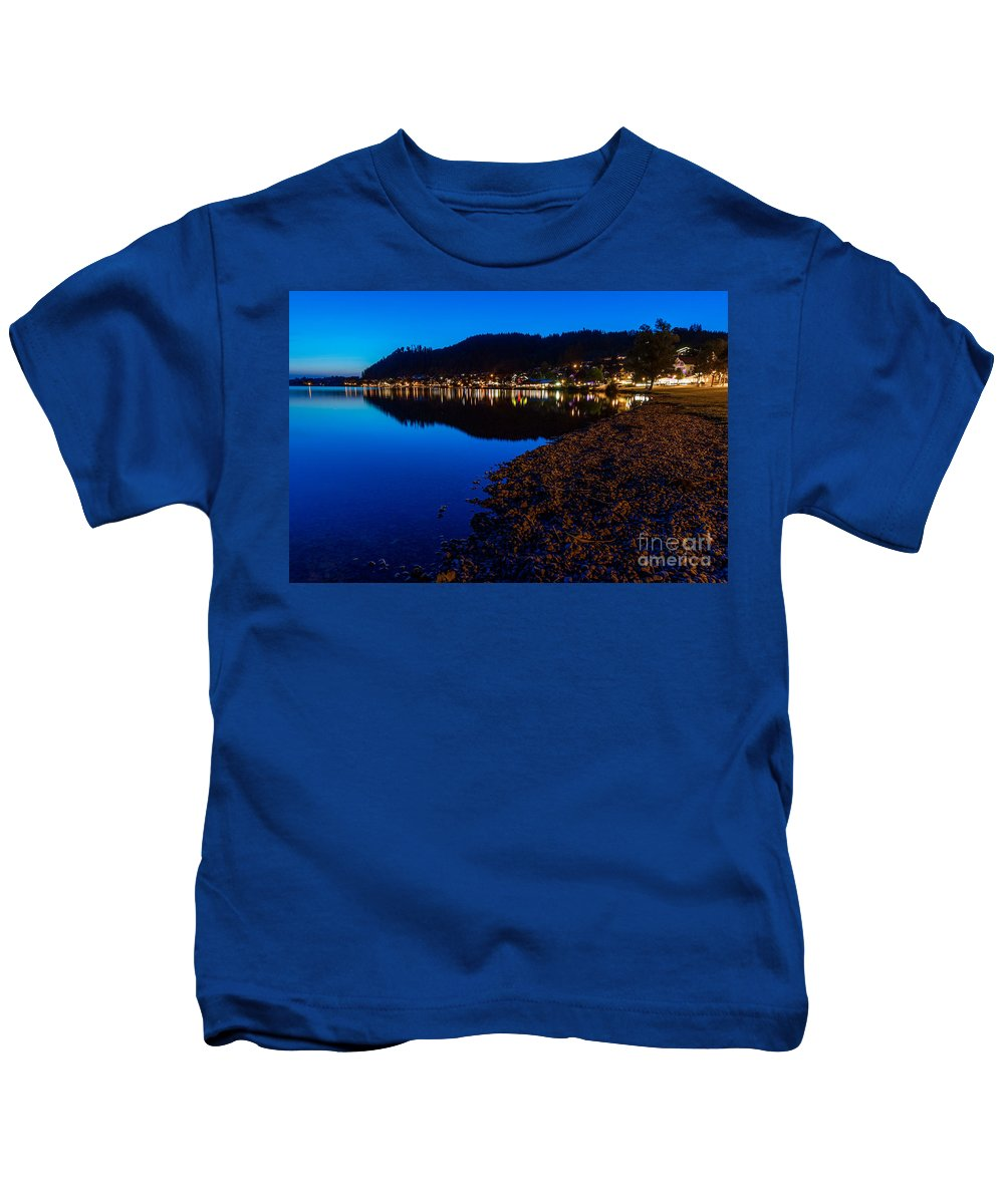Germani Kids T-Shirt featuring the photograph Hopfensee Lake Landscape by Valerio Poccobelli