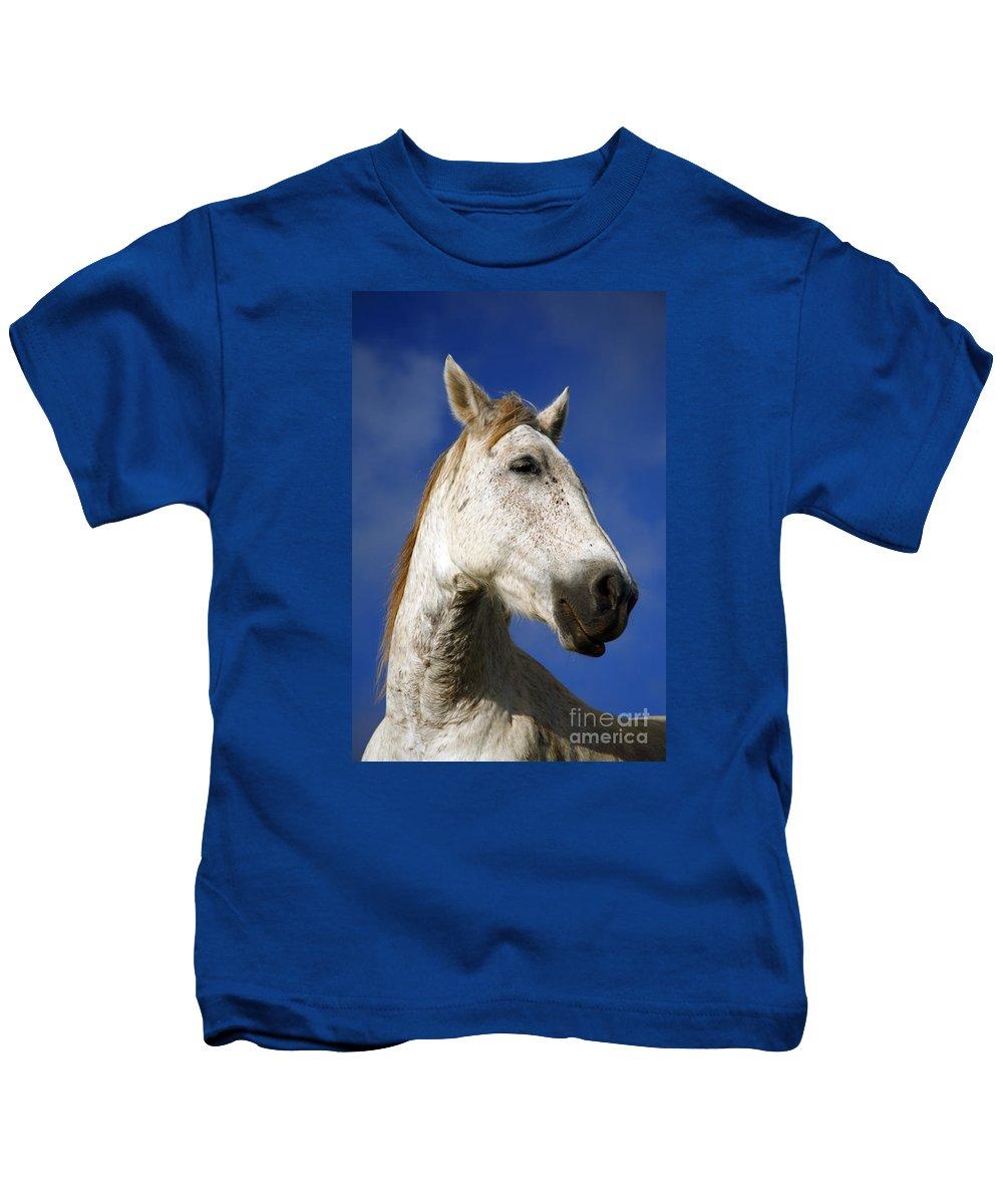 Animals Kids T-Shirt featuring the photograph Horse Portrait by Gaspar Avila