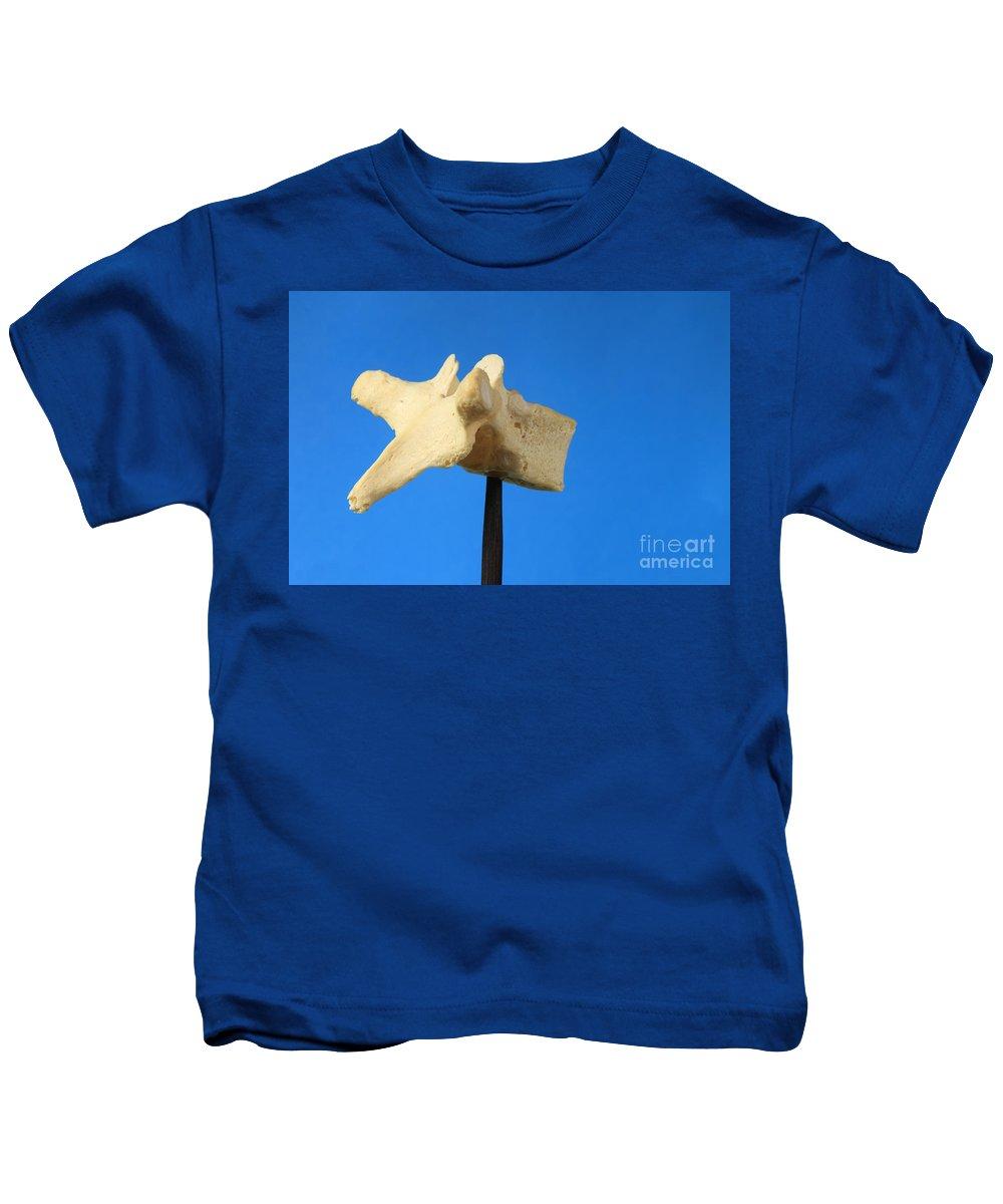 Anatomy Kids T-Shirt featuring the photograph Human Vertebra by Ted Kinsman