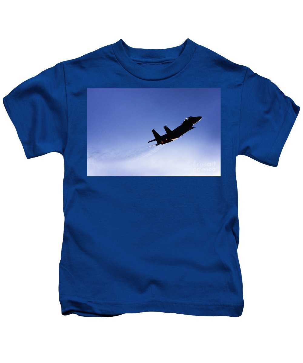 Aircraft Kids T-Shirt featuring the photograph Iaf F15i Fighter Jet by Nir Ben-Yosef