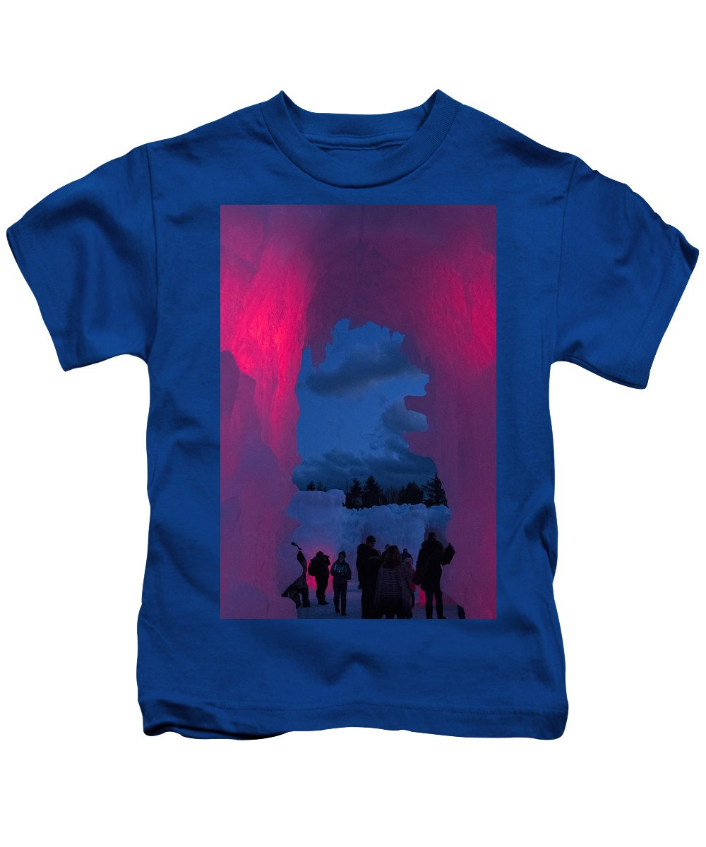 Event Kids T-Shirt featuring the photograph Ice And Colors by Betty Pauwels