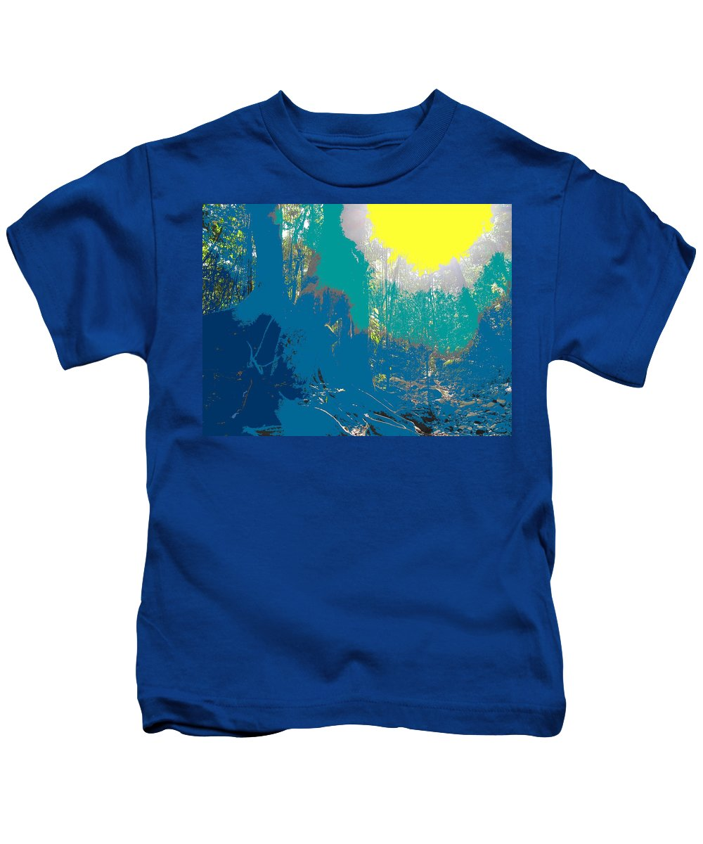 Rainforest Kids T-Shirt featuring the photograph In The Rainforest by Ian MacDonald