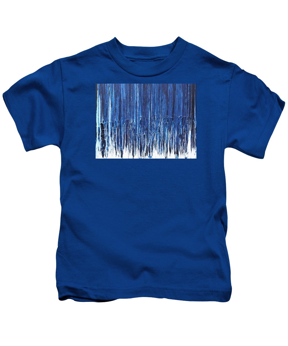 Fusionart Kids T-Shirt featuring the painting Indigo Soul by Ralph White