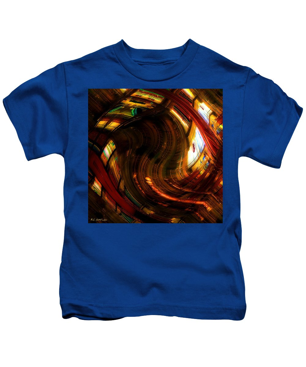 Books Kids T-Shirt featuring the digital art Inside The Magick Book Shop by RC DeWinter