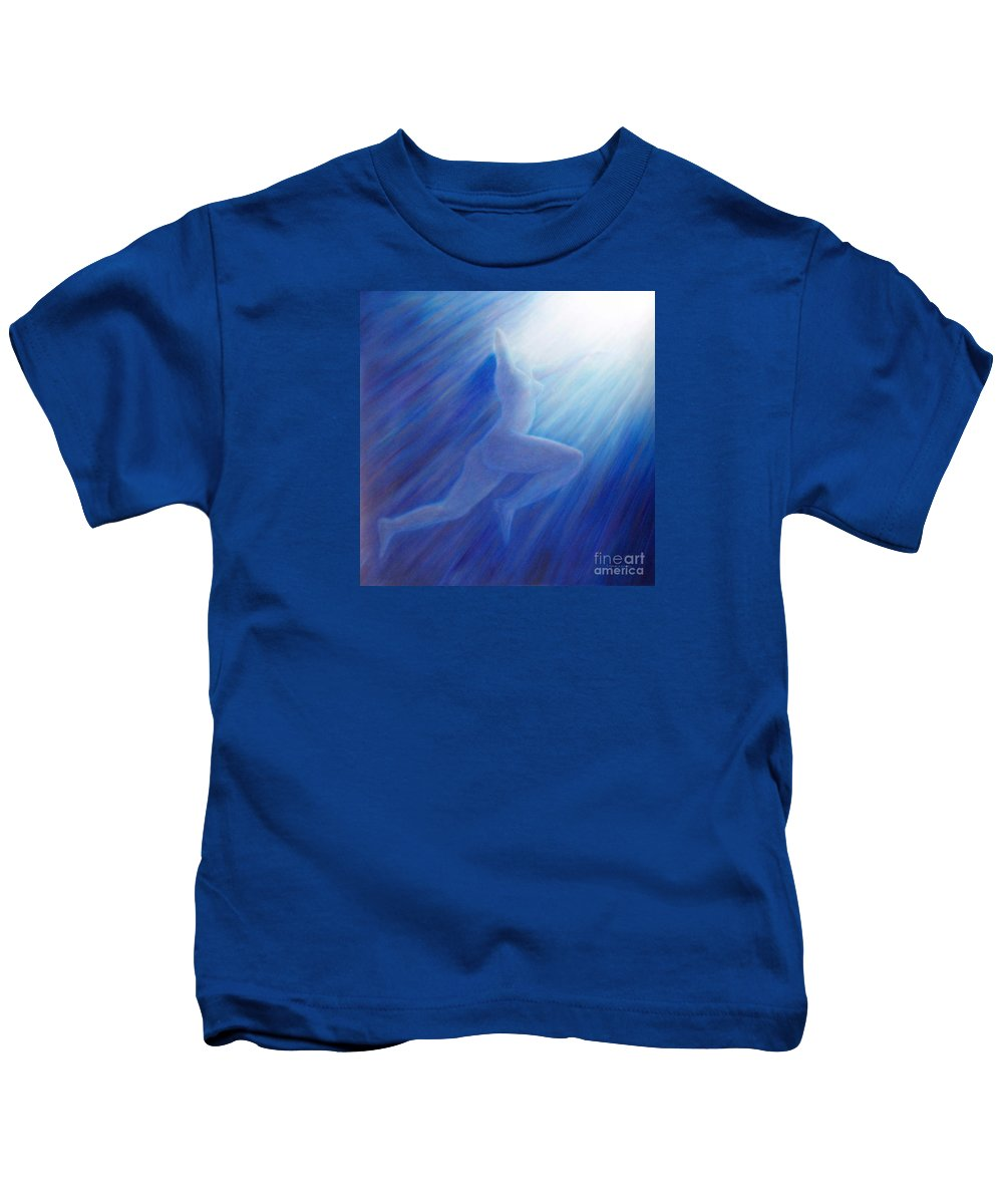 Spiritual Kids T-Shirt featuring the painting Into The Light by Brian Commerford
