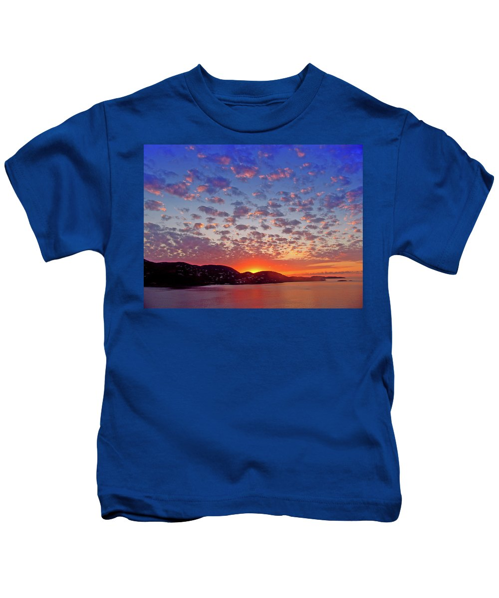 Island Kids T-Shirt featuring the photograph Island Sunrise by Scott Mahon