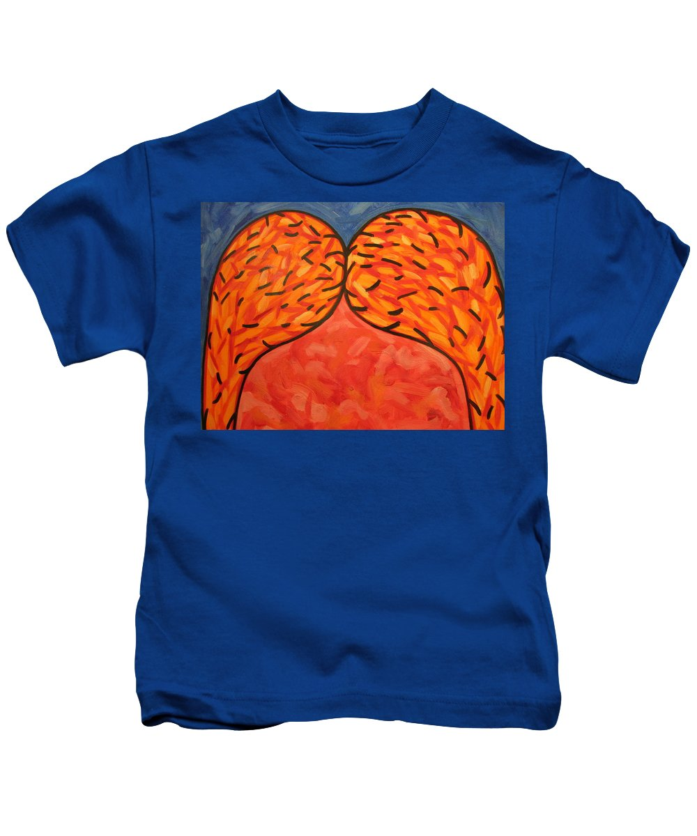Abstract Kids T-Shirt featuring the painting It Takes Two by Steven Miller